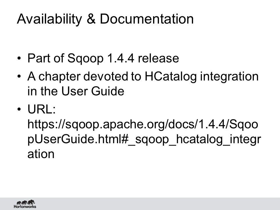 Availability & Documentation
