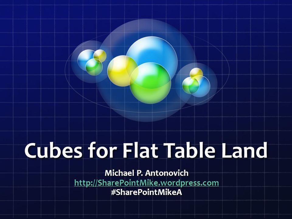 Cubes for Flat Table Land