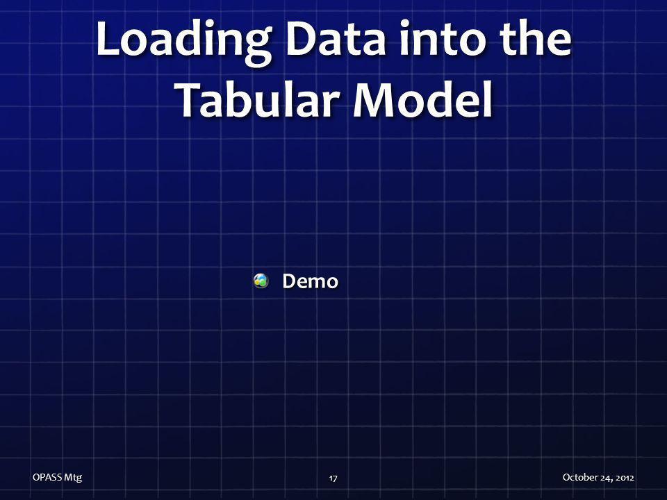 Loading Data into the Tabular Model