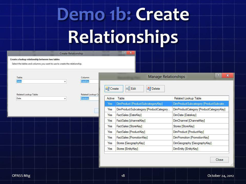 Demo 1b: Create Relationships
