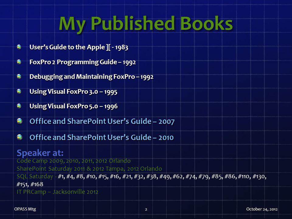 My Published Books Speaker at: