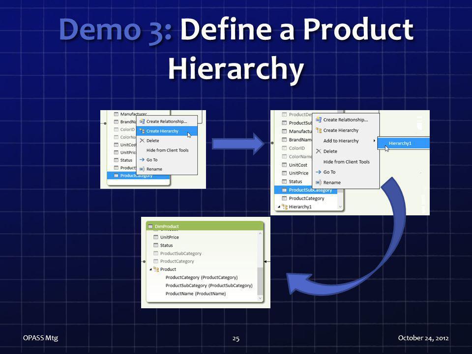 Demo 3: Define a Product Hierarchy