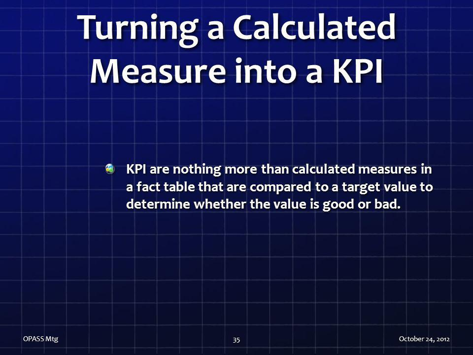 Turning a Calculated Measure into a KPI