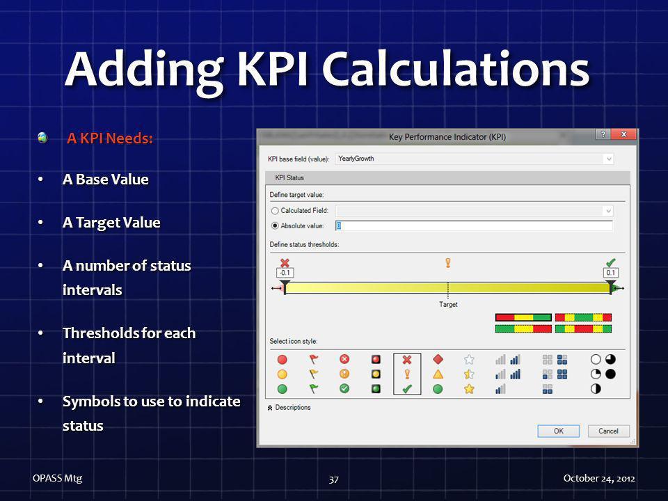 Adding KPI Calculations