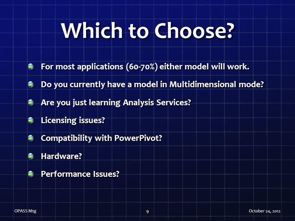 Which to Choose For most applications (60-70%) either model will work. Do you currently have a model in Multidimensional mode