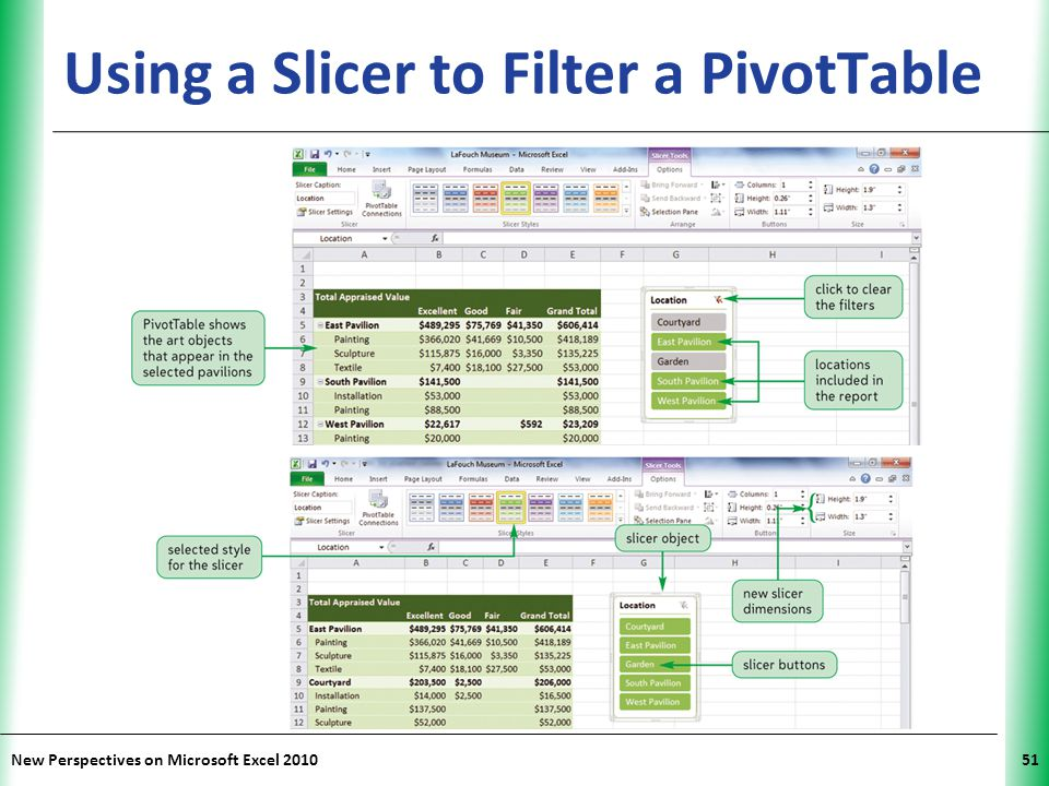 Using a Slicer to Filter a PivotTable