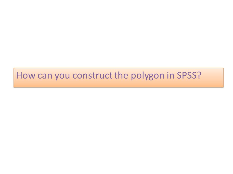 How can you construct the polygon in SPSS