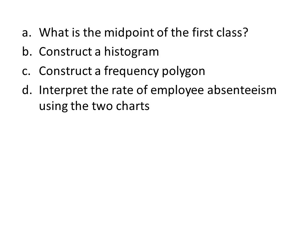 What is the midpoint of the first class