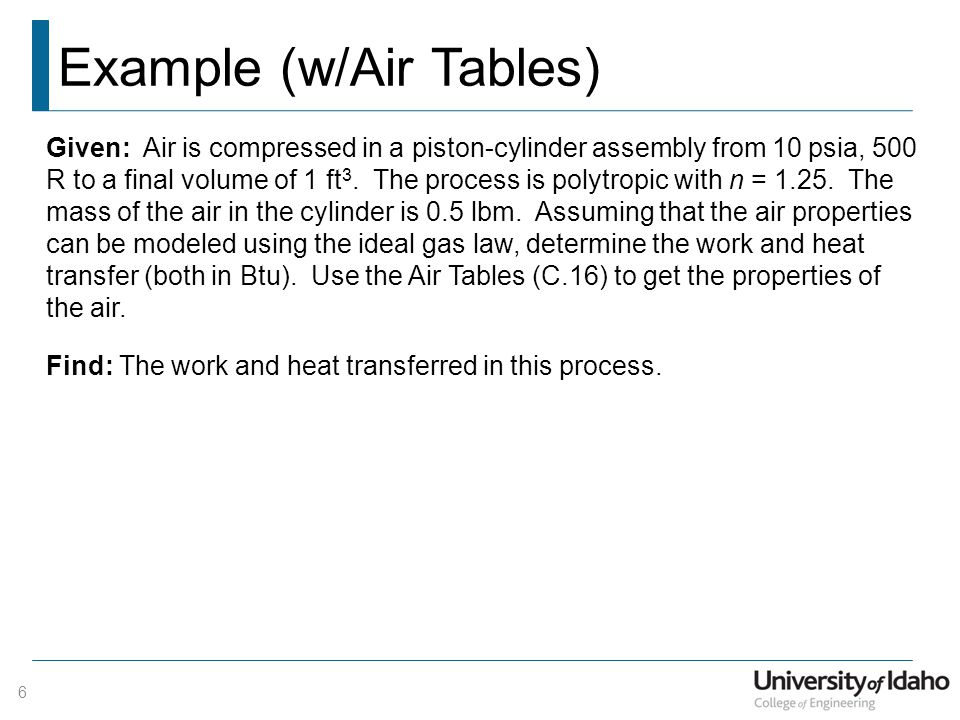 Example (w/Air Tables)