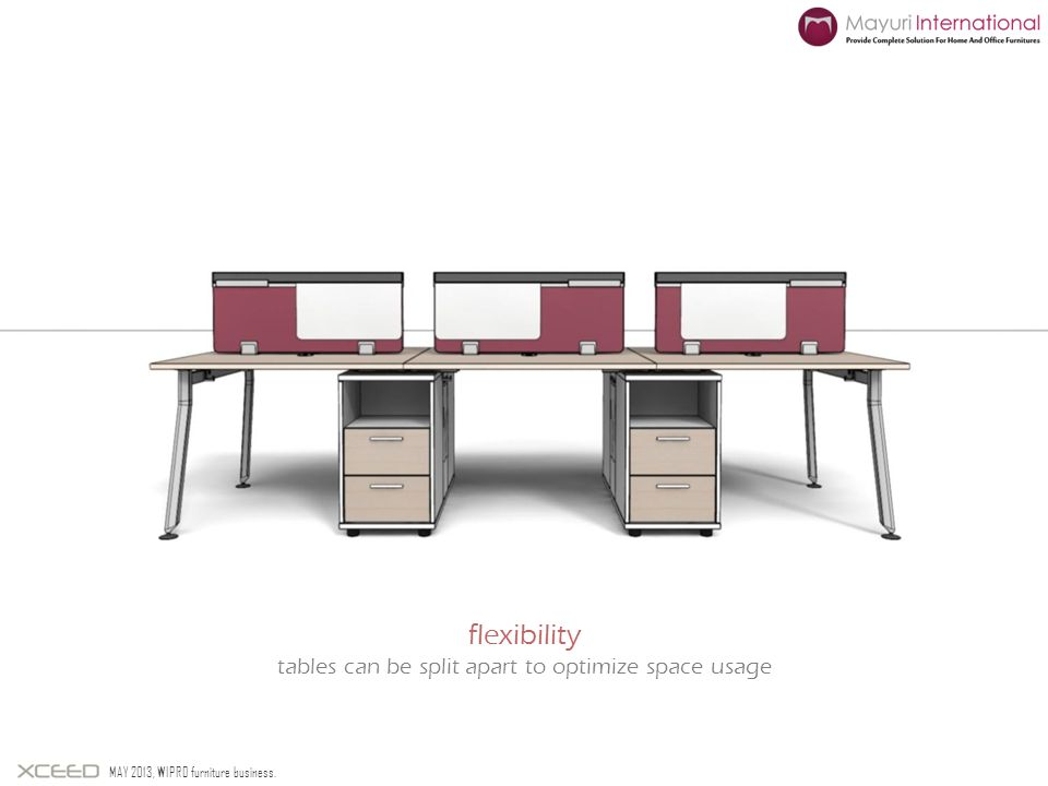 tables can be split apart to optimize space usage
