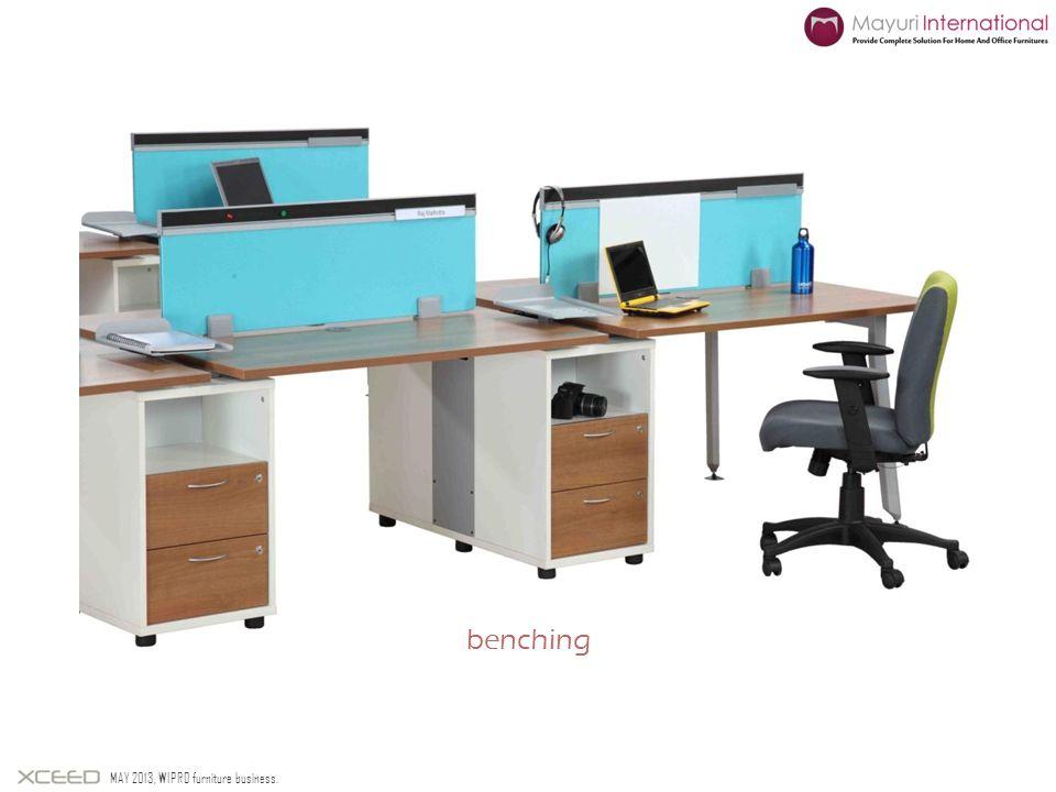 benching MAY 2013, WIPRO furniture business.