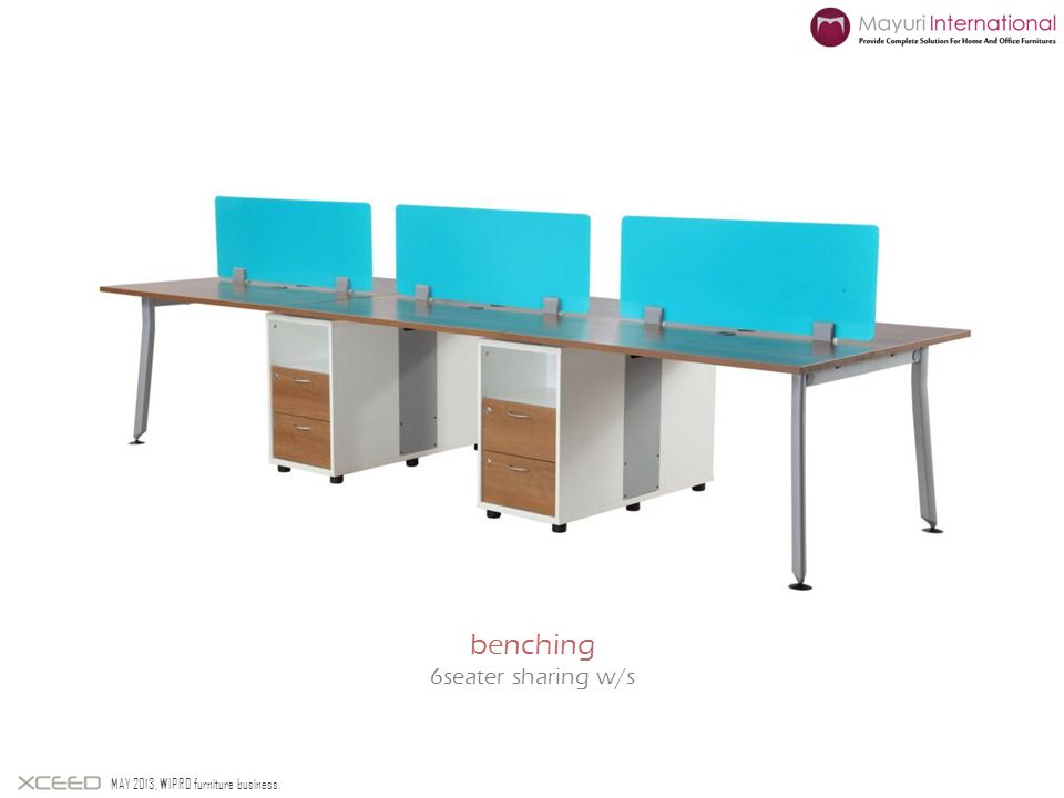 benching 6seater sharing w/s MAY 2013, WIPRO furniture business.
