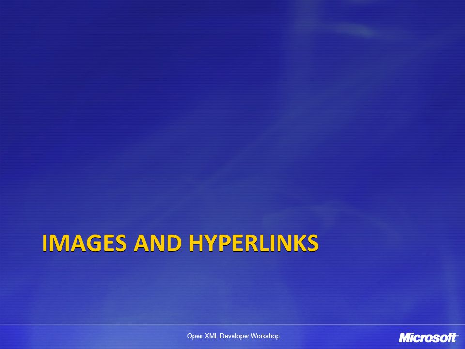 Images AND hYPERLINKS