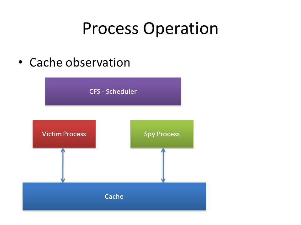 Process Operation Cache observation CFS - Scheduler Victim Process