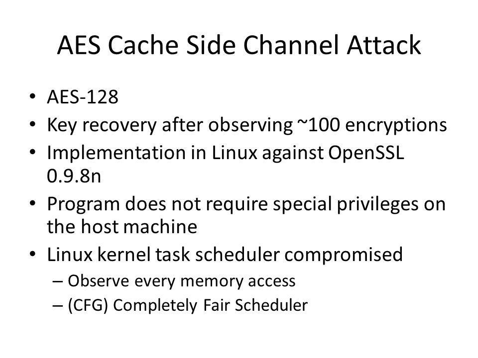 AES Cache Side Channel Attack