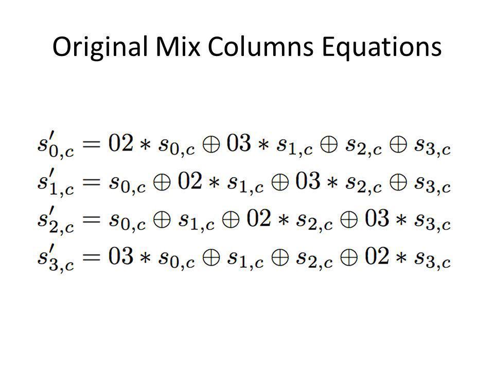 Original Mix Columns Equations