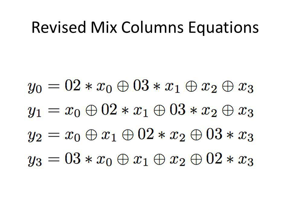 Revised Mix Columns Equations