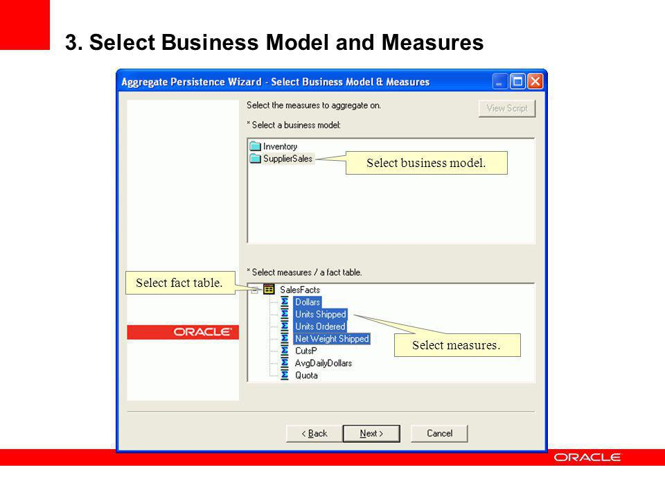 3. Select Business Model and Measures