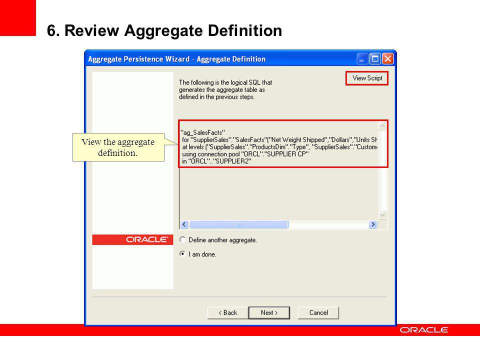 6. Review Aggregate Definition