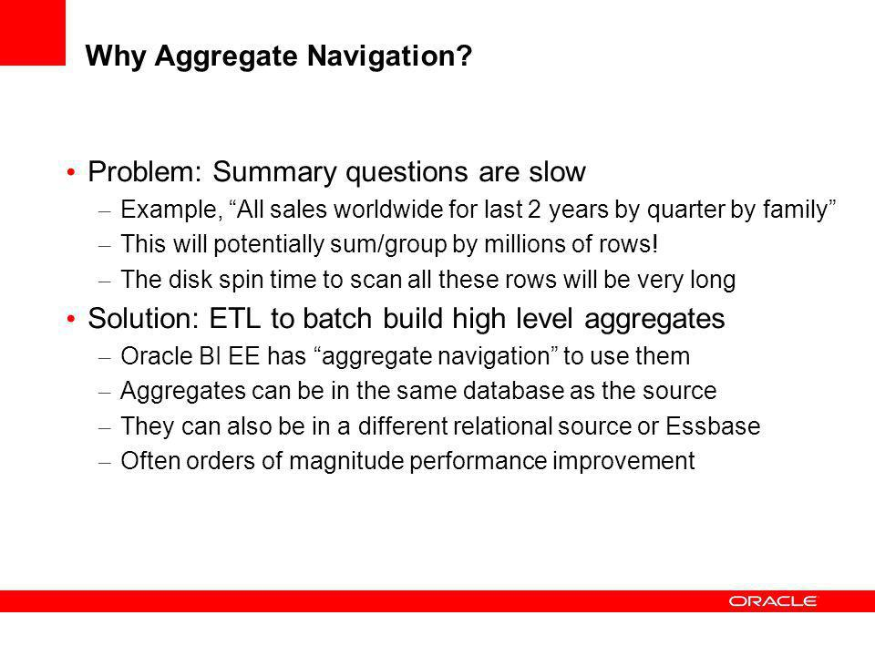 Why Aggregate Navigation