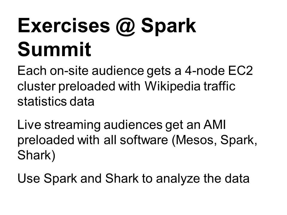 Exercises @ Spark Summit