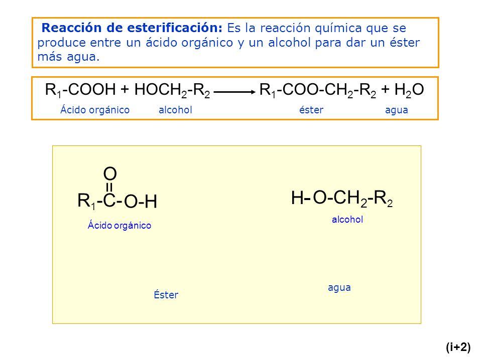 O = H- O-CH2-R2 R1-C- O-H R1-COOH + HOCH2-R2 R1-COO-CH2-R2 + H2O