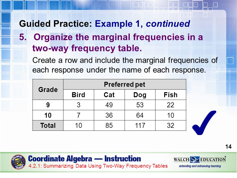 ✔ Guided Practice: Example 1, continued