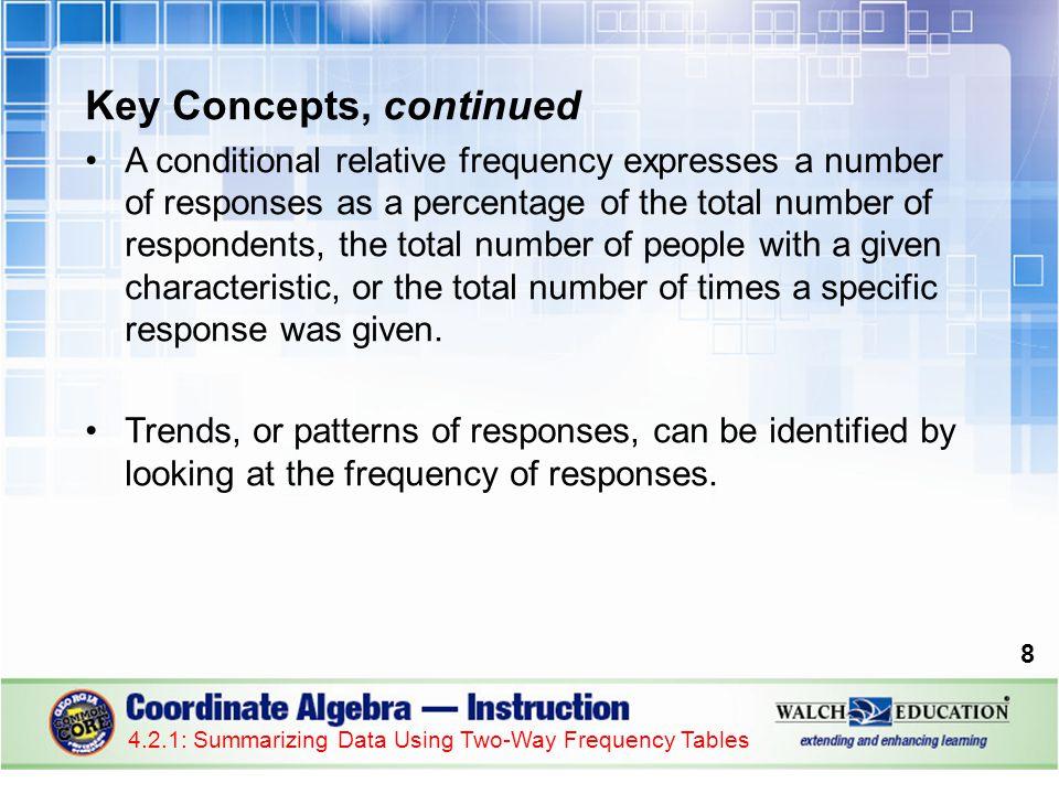 Key Concepts, continued
