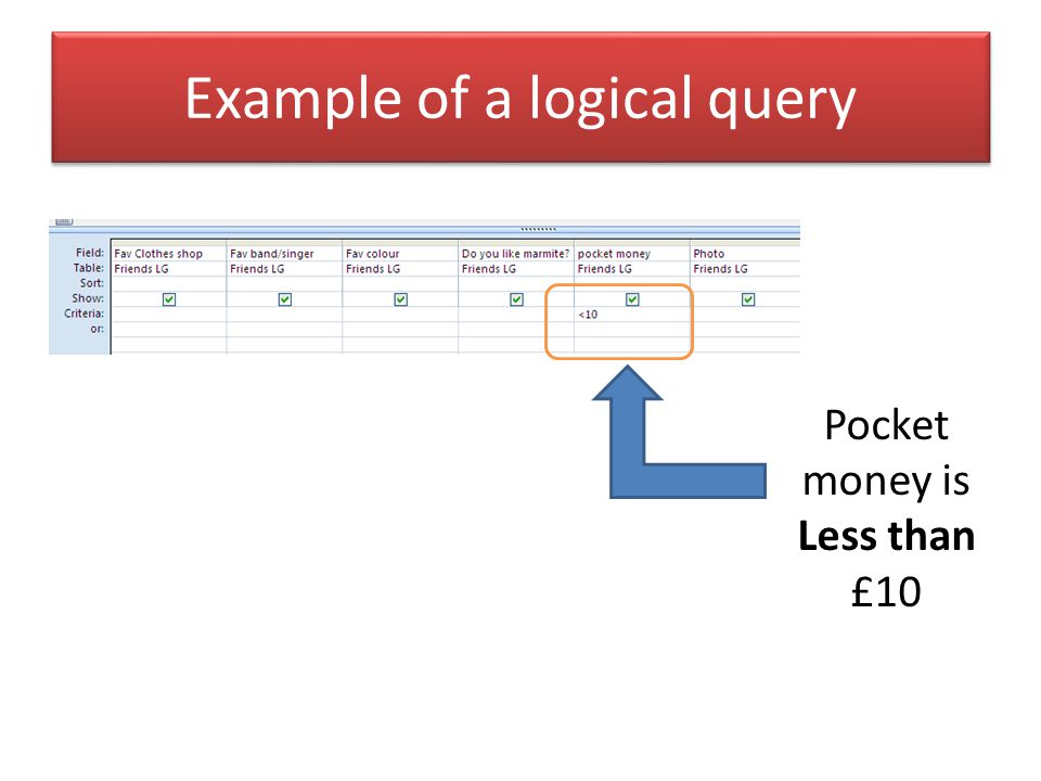 Example of a logical query