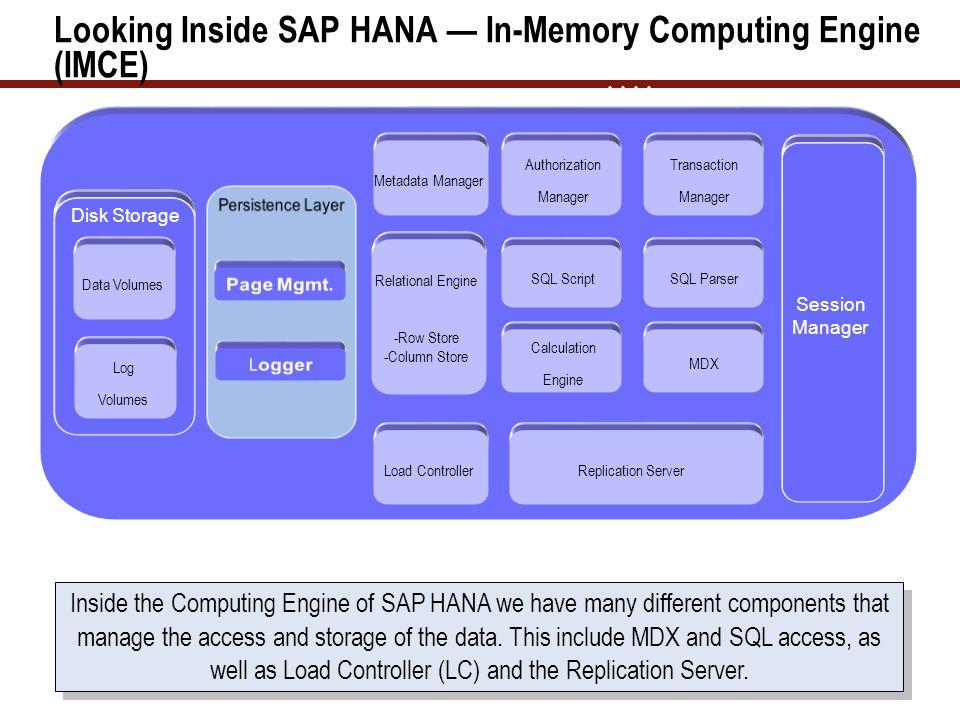 Looking Inside SAP HANA — In-Memory Computing Engine (IMCE)