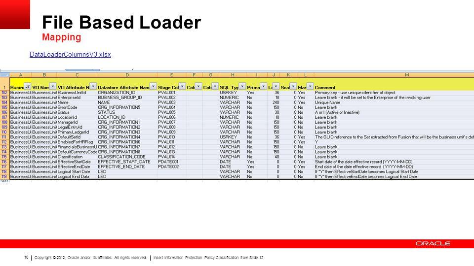 File Based Loader Mapping