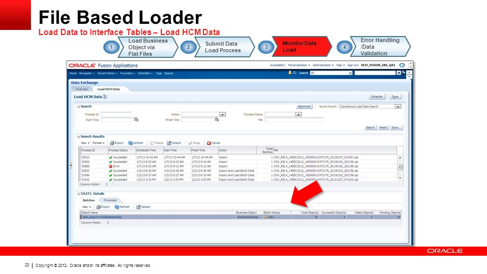 File Based Loader Load Data to Interface Tables – Load HCM Data