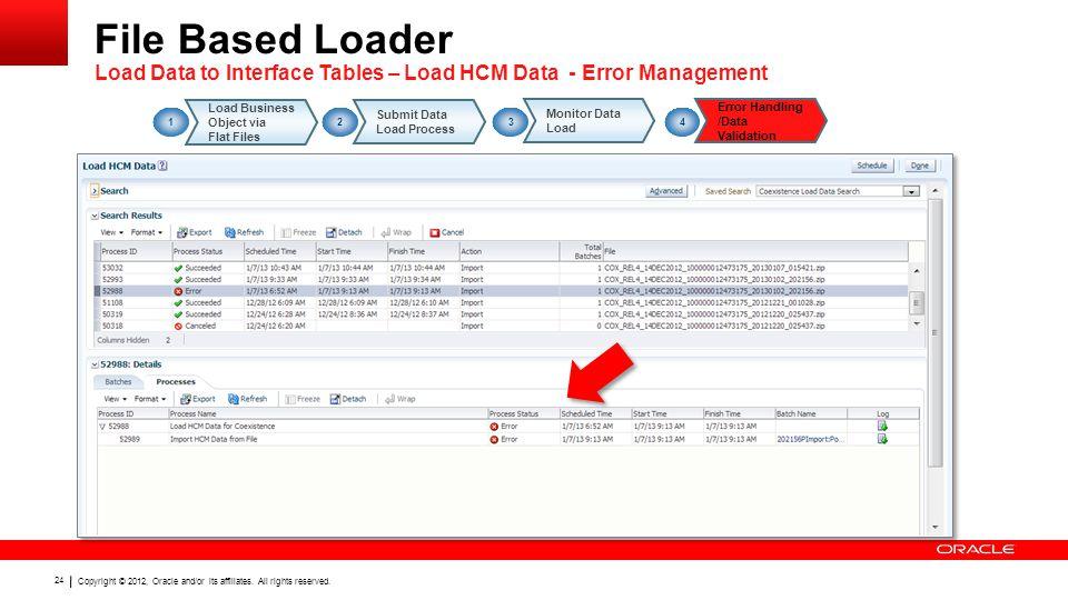 File Based Loader Load Data to Interface Tables – Load HCM Data - Error Management