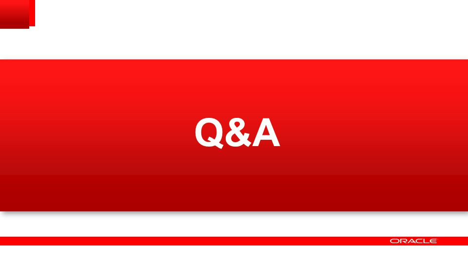 Q&A If you have any questions, feel free to contact me via email or the OTN forums.