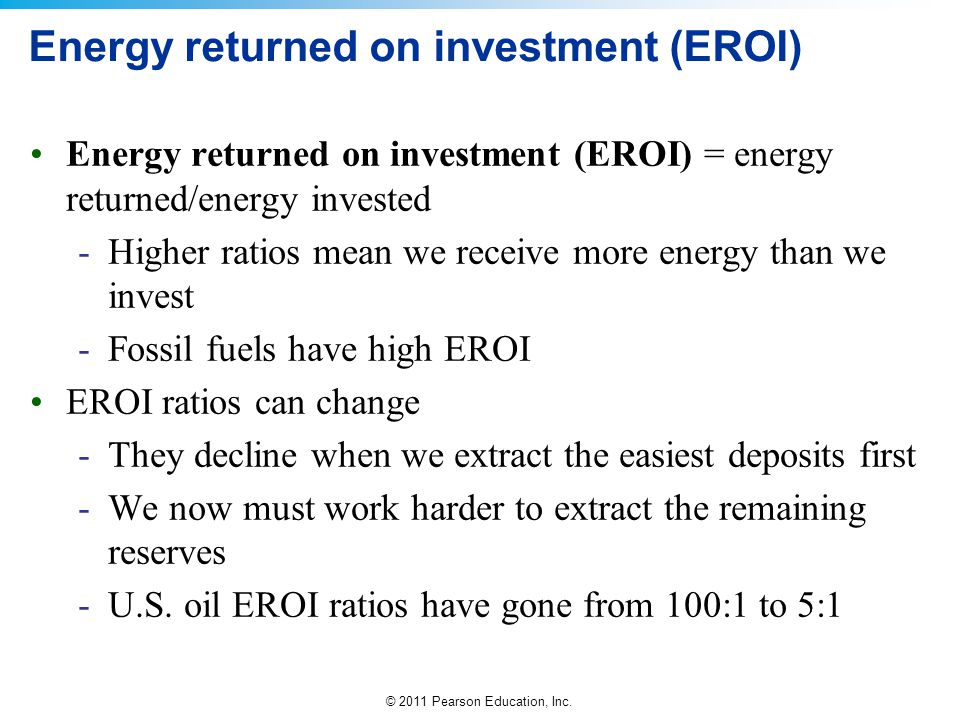 Energy returned on investment (EROI)