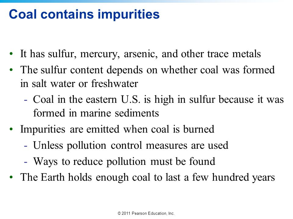 Coal contains impurities