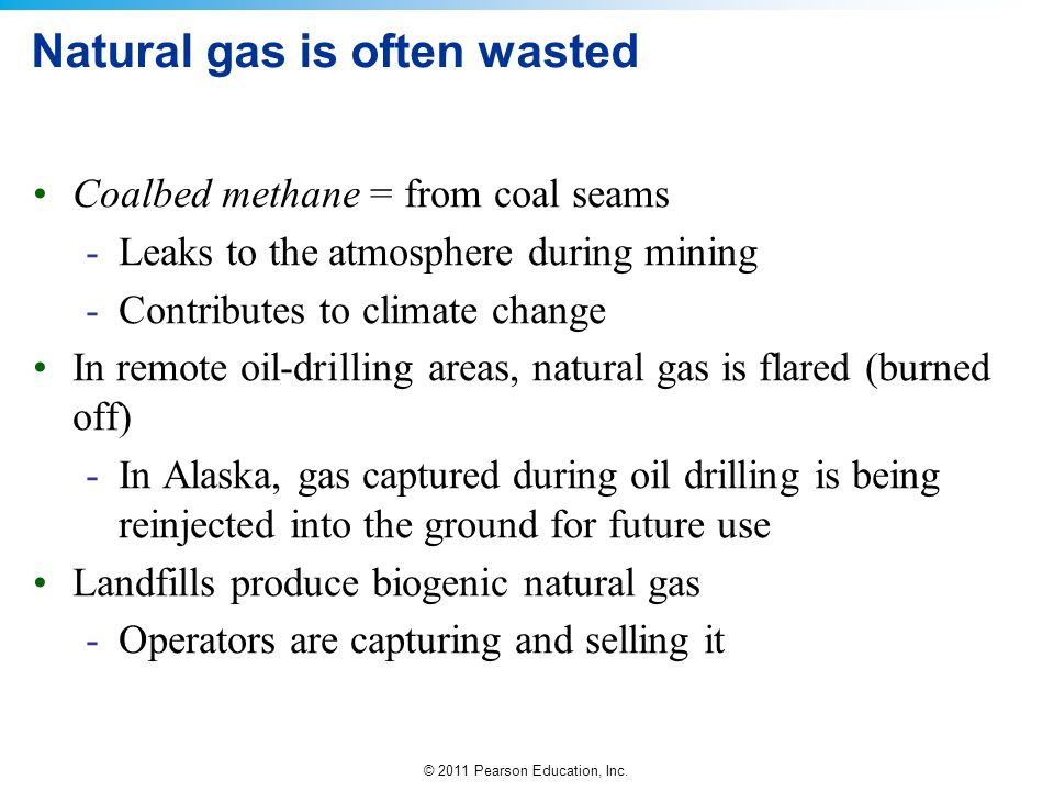 Natural gas is often wasted