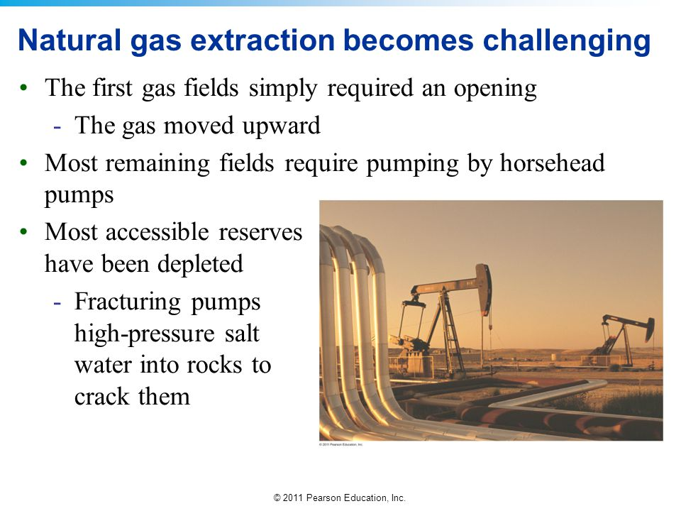 Natural gas extraction becomes challenging