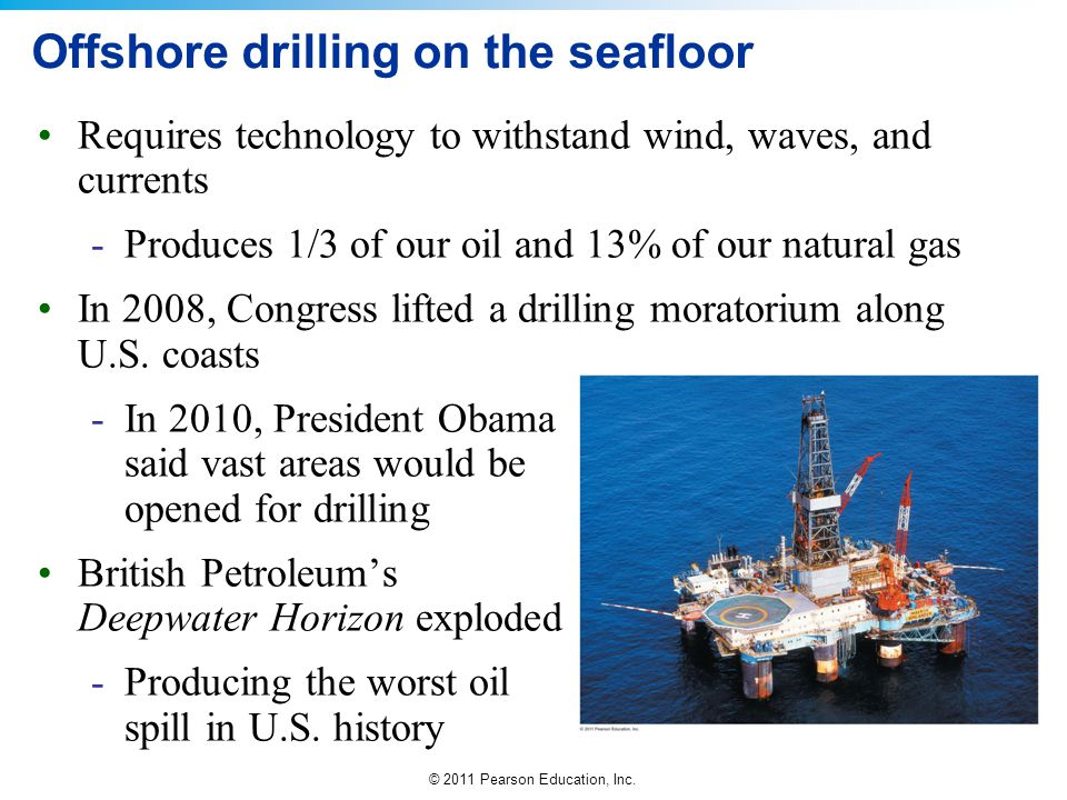 Offshore drilling on the seafloor