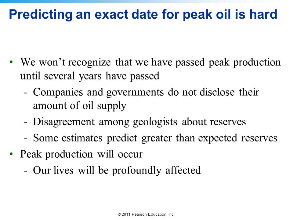 Predicting an exact date for peak oil is hard