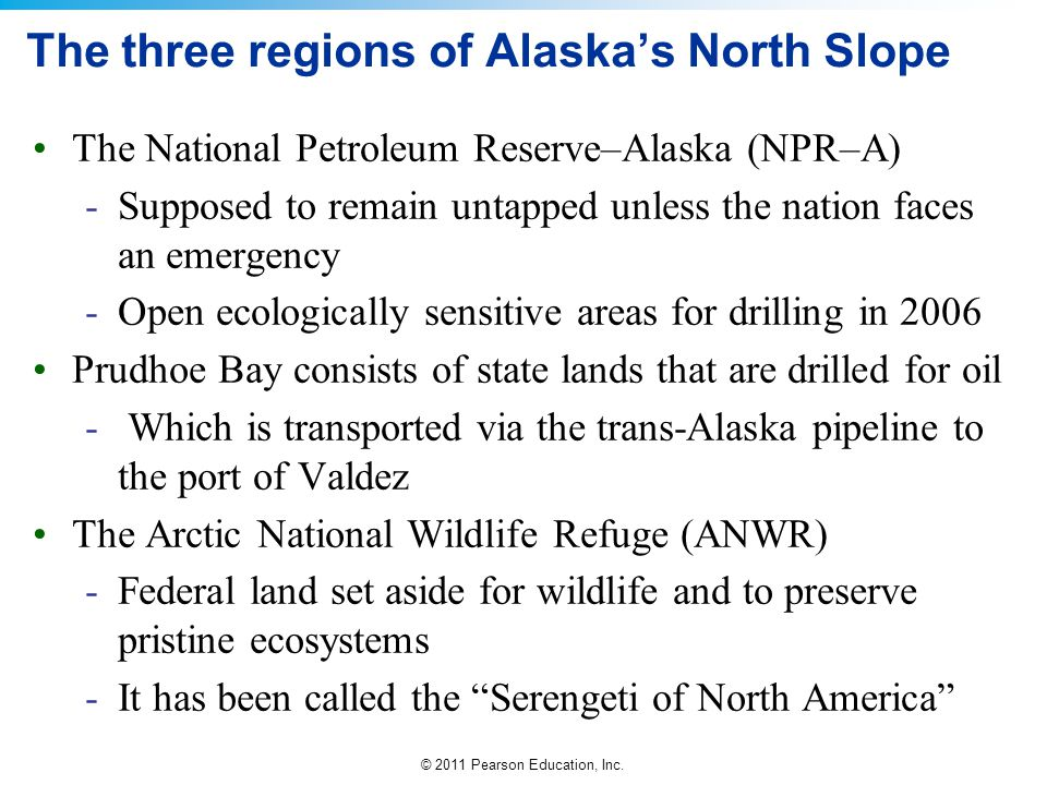 The three regions of Alaska's North Slope