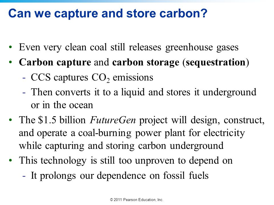 Can we capture and store carbon