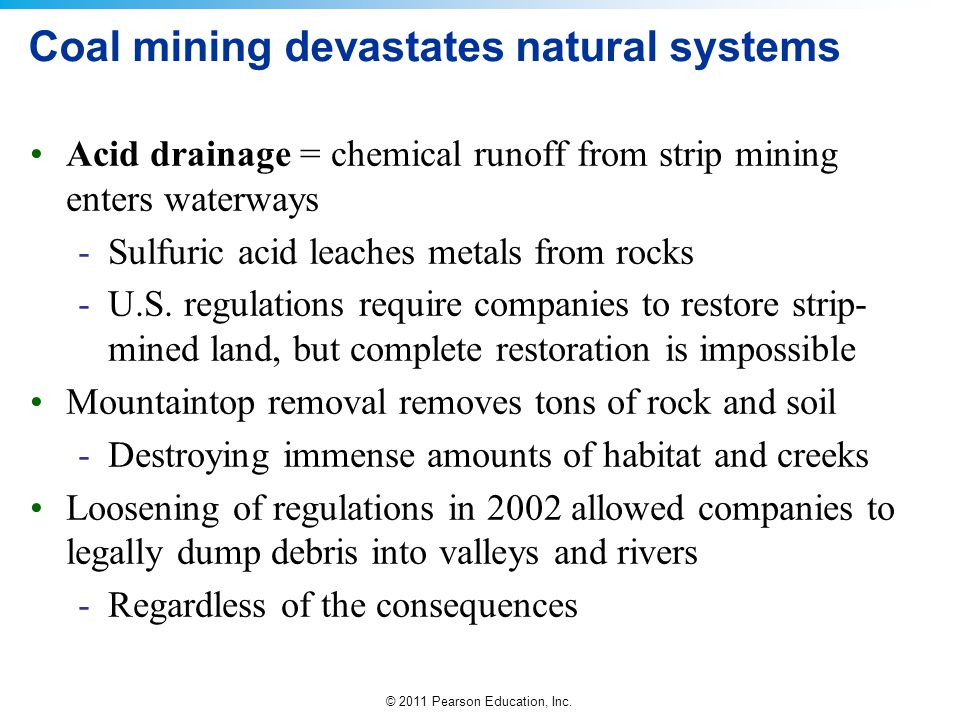 Coal mining devastates natural systems