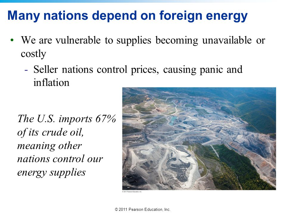 Many nations depend on foreign energy