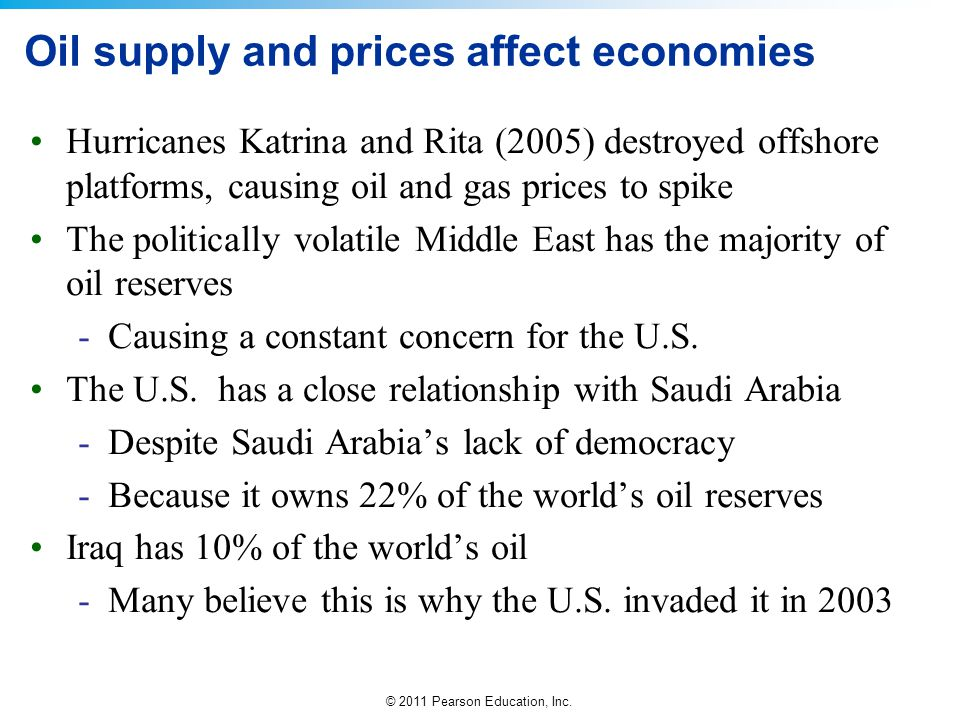 Oil supply and prices affect economies