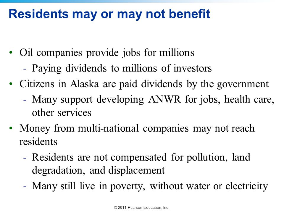Residents may or may not benefit