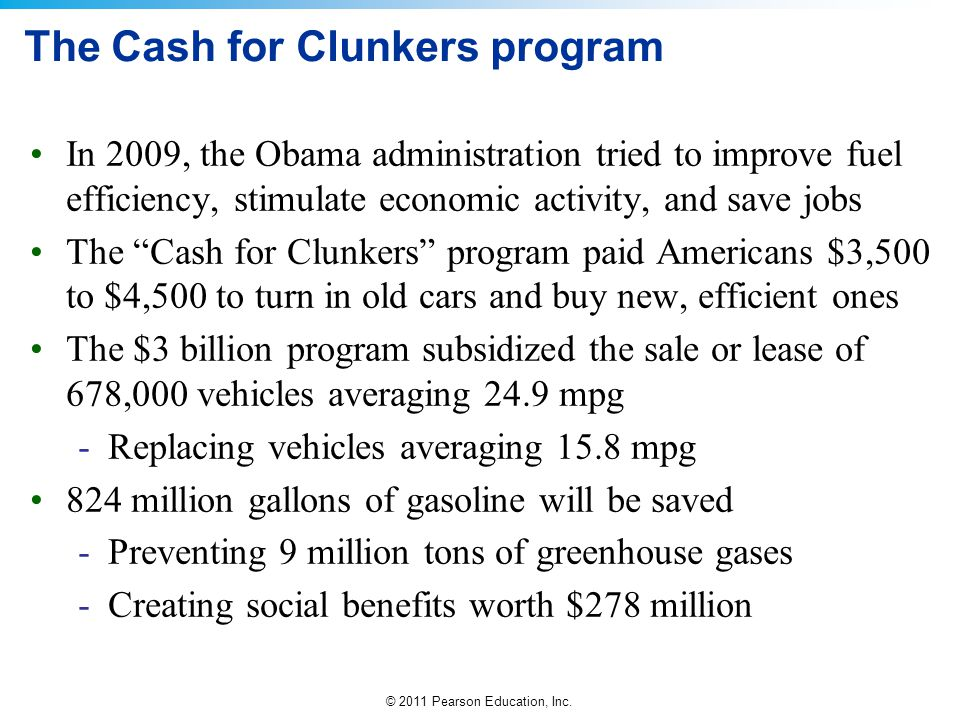 The Cash for Clunkers program