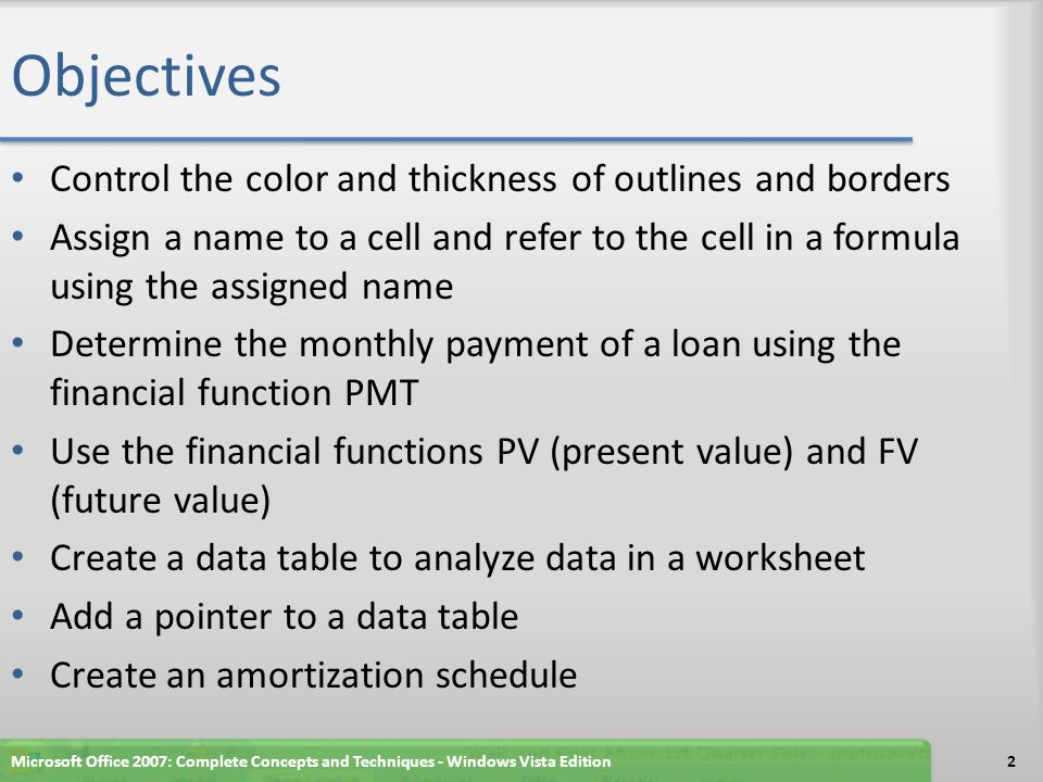 Objectives Control the color and thickness of outlines and borders