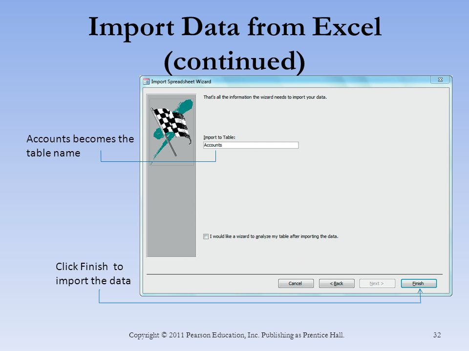 Import Data from Excel (continued)