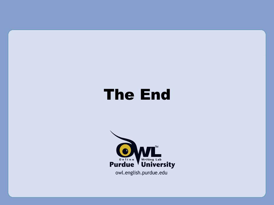 The End Writer and Designer: Jennifer Liethen Kunka